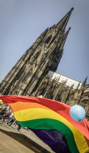 Demo vor dem Klner Dom gegen Homophobie, Mai 2014